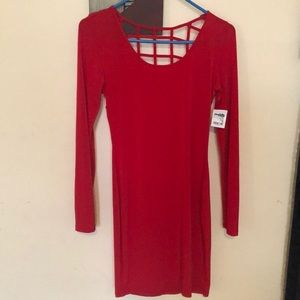 Sexy red dress (back cutout) brand new, make offer